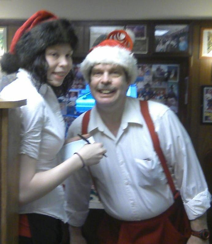Santa Dave and Daughter